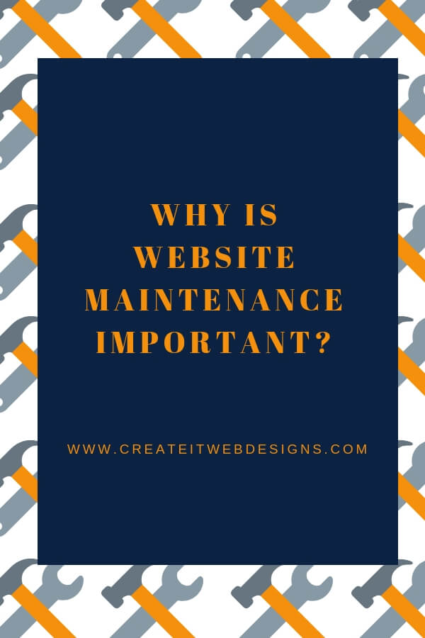 website maintenance important