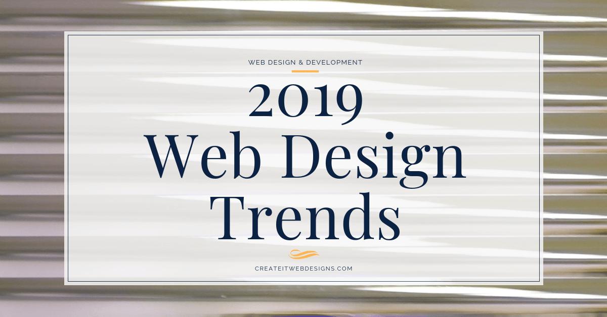 web design trends 2019