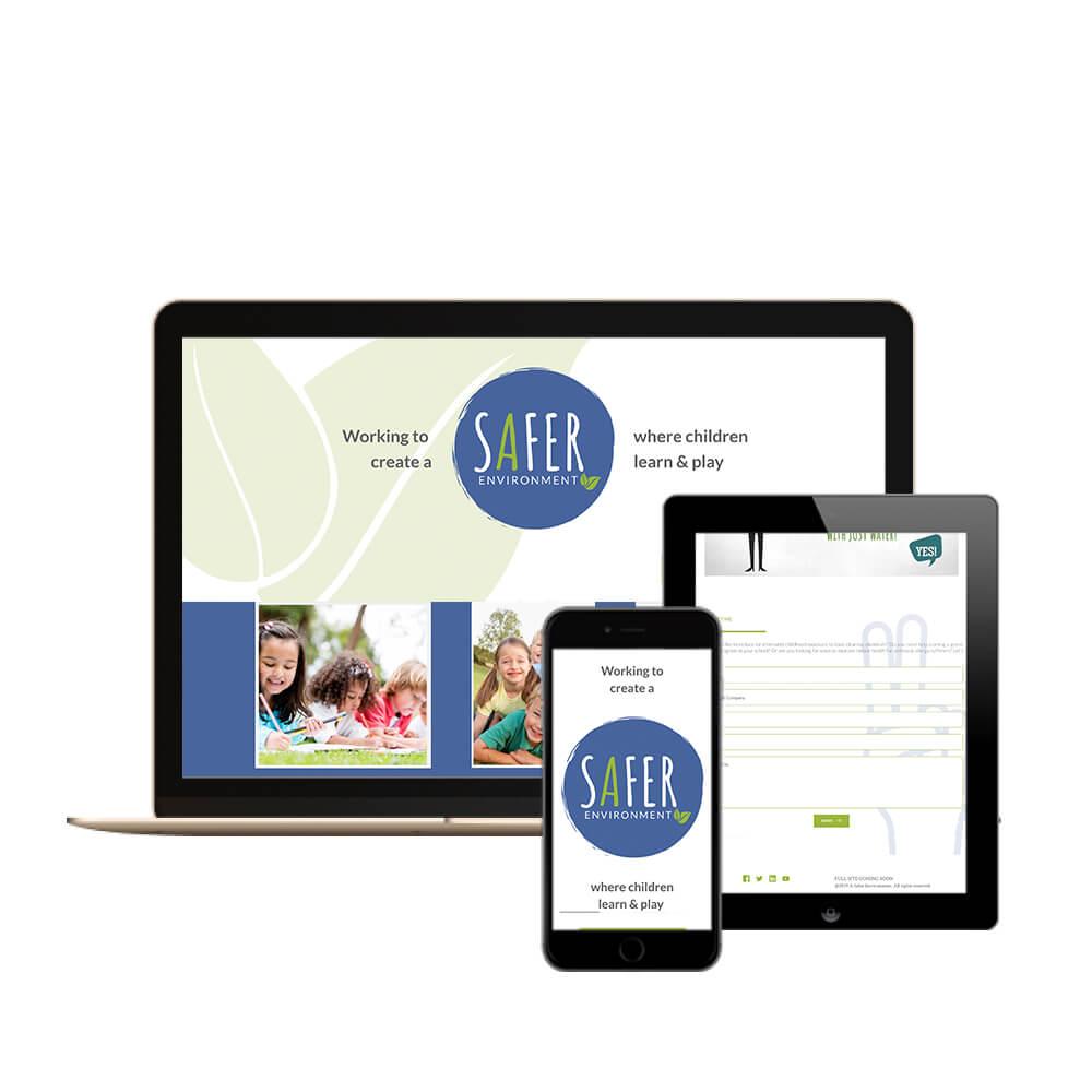 Create IT Web Designs - Cincinnati Web Designer - A Safer Environment website display