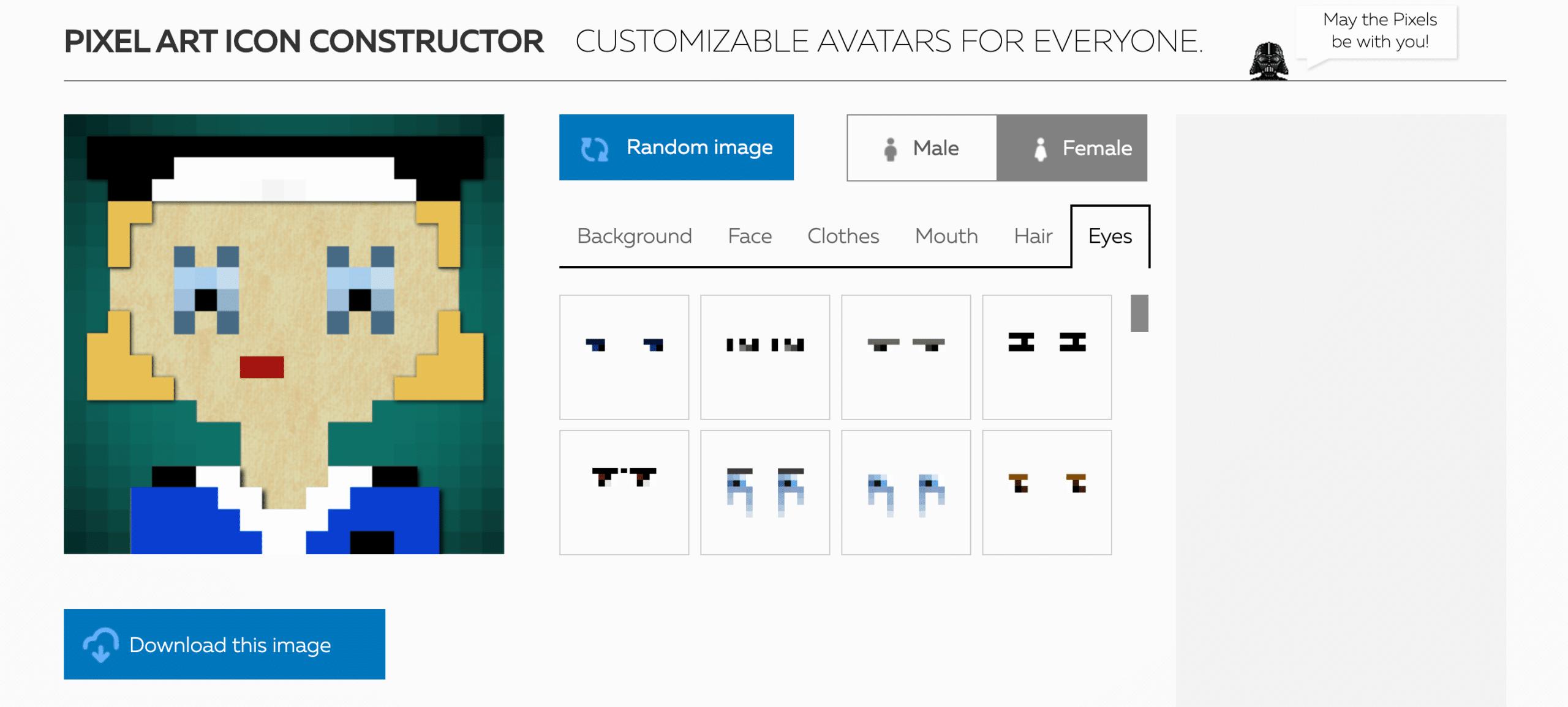 create an avatar - Pixel Art