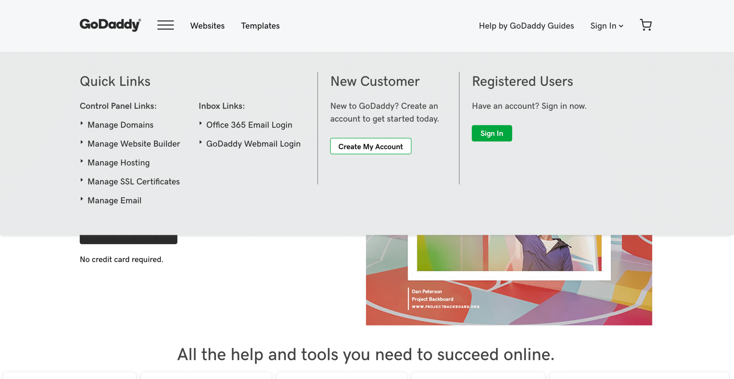registering a domain name with godaddy - managing a domain with GoDaddy