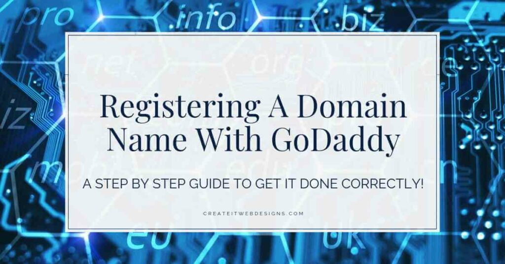 Registering a domain name with godaddy