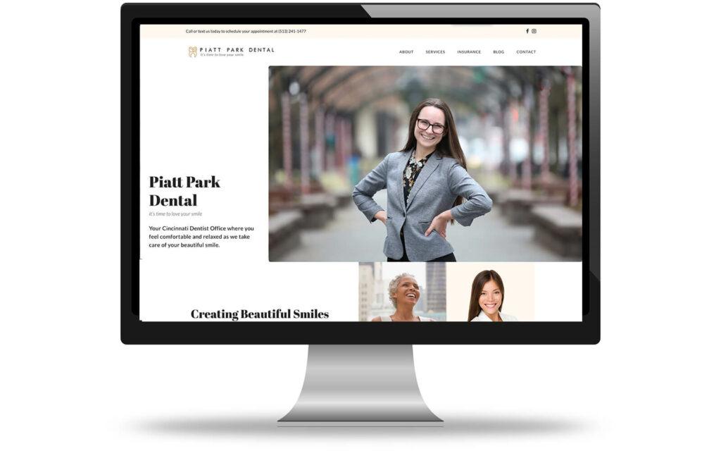 Create IT Web Designs Portfolio of Piatt Park Dental Web Design