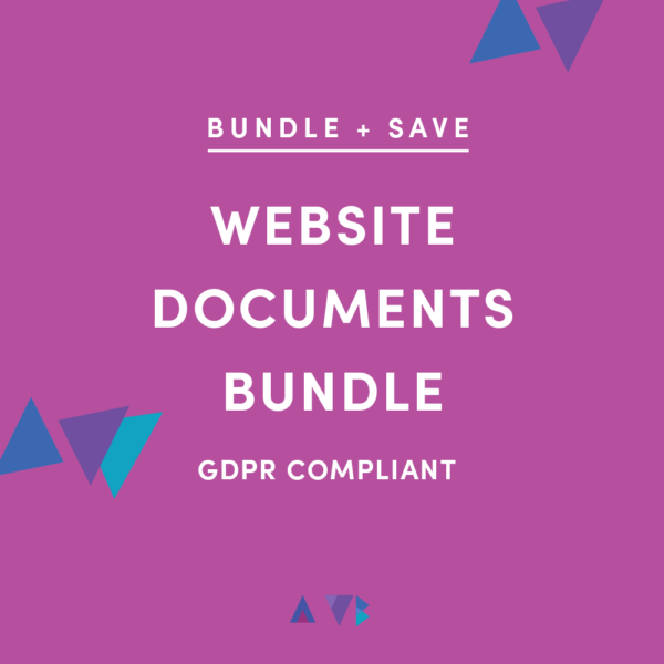 Do I need a privacy policy for my website? - AWB Website Documents bundle of privacy policy, terms and conditions, and disclosure