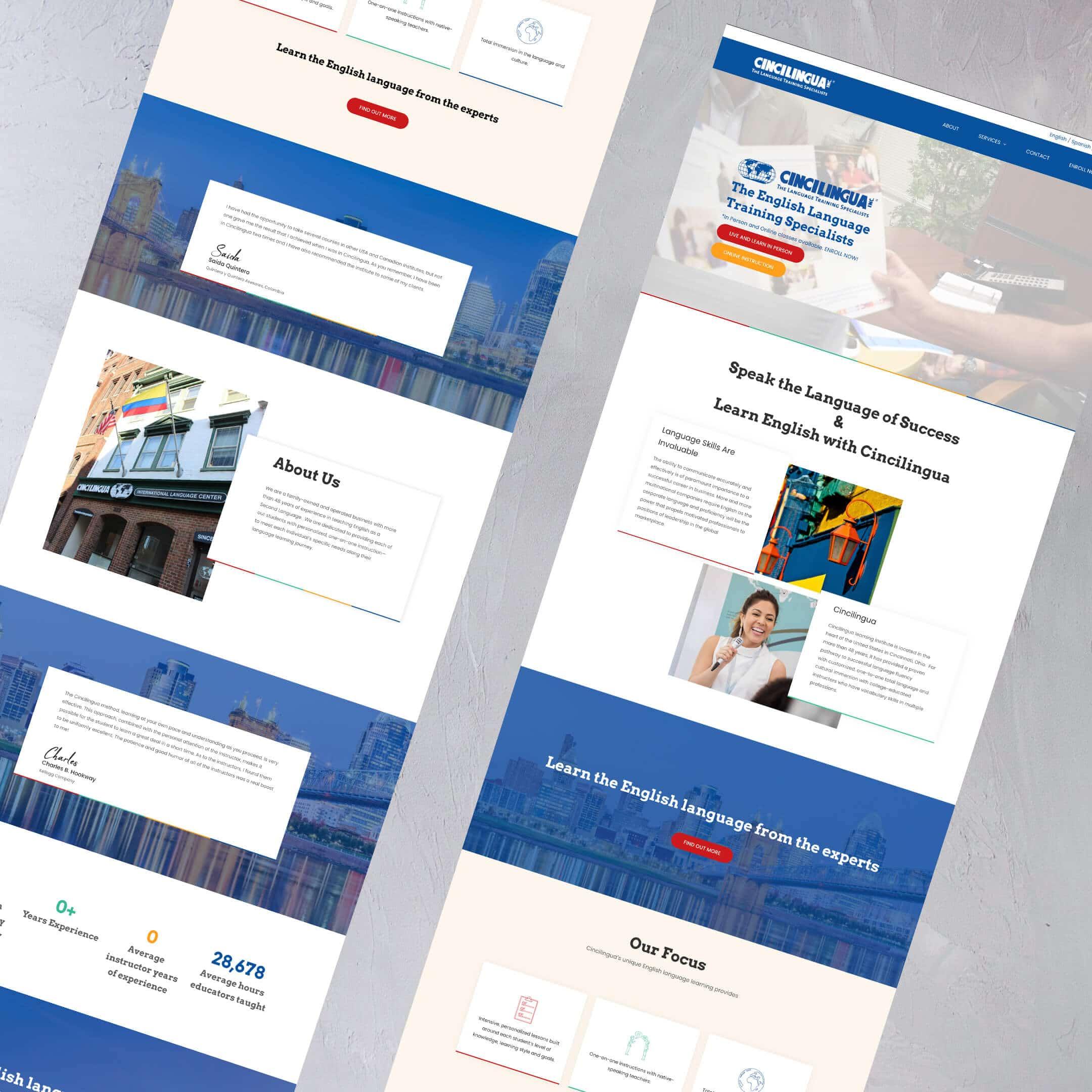 cincilingua services page - multilingual website - English Translation services in Cincinnati, Ohio