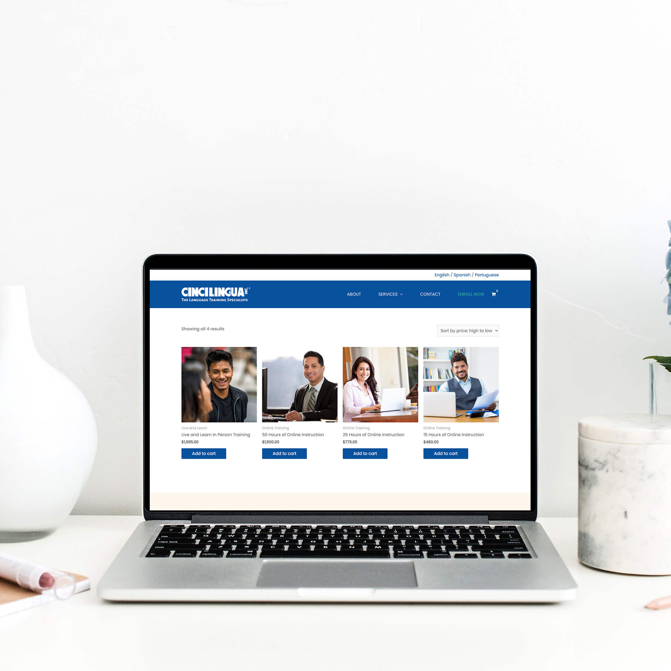cincilingua shop page - multilingual website - English Translation services in Cincinnati, Ohio