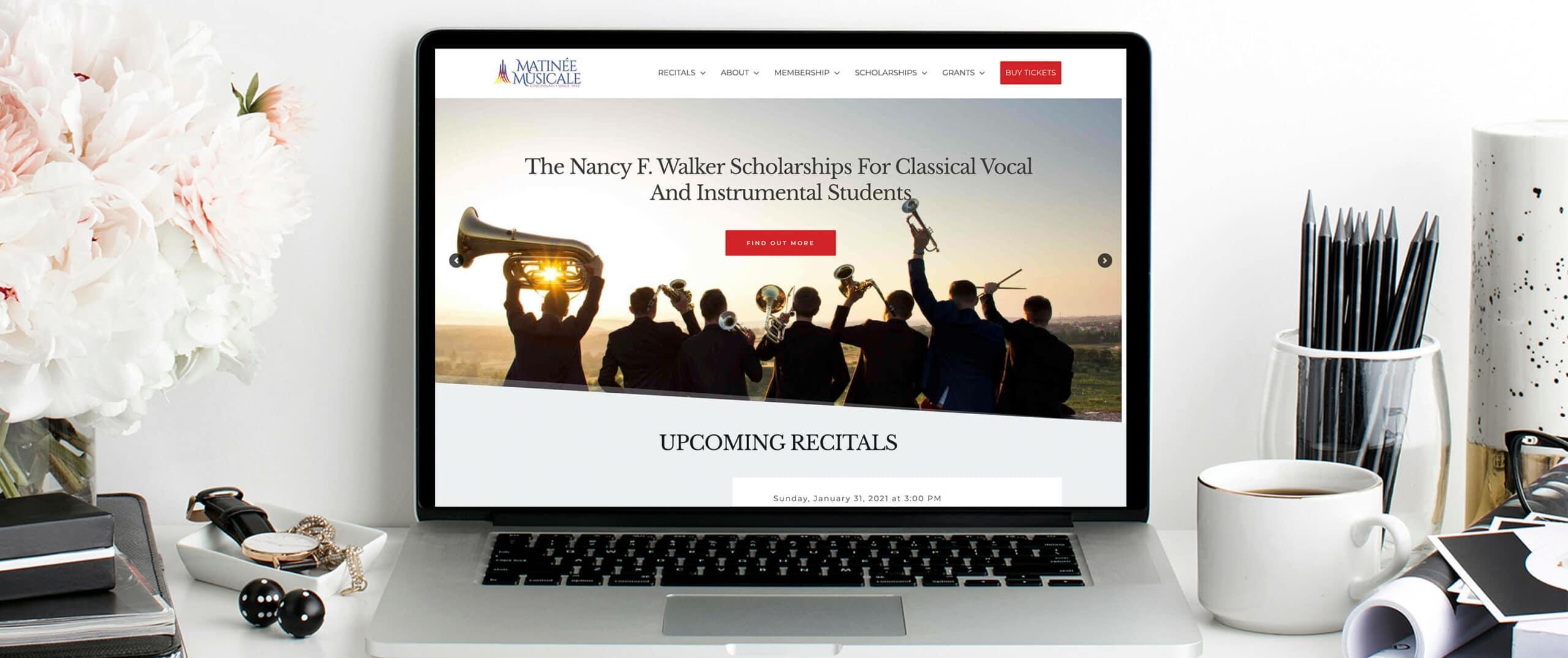 Matinee Musicale Cincinnati Desktop View - a Non Profit website in Cincinnati, Ohio