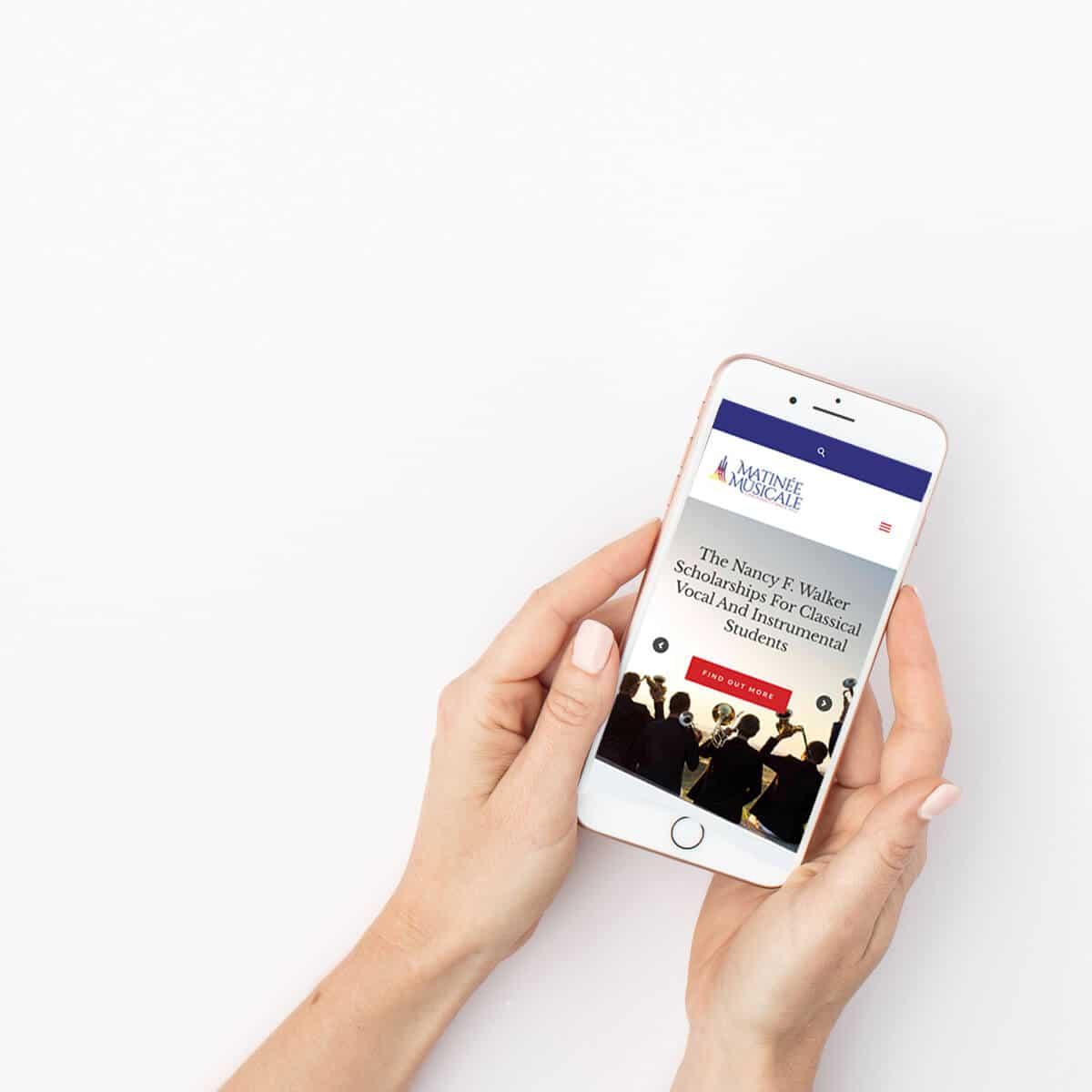 Matinee Musicale Cincinnati Mobile View - a Non Profit website in Cincinnati, Ohio