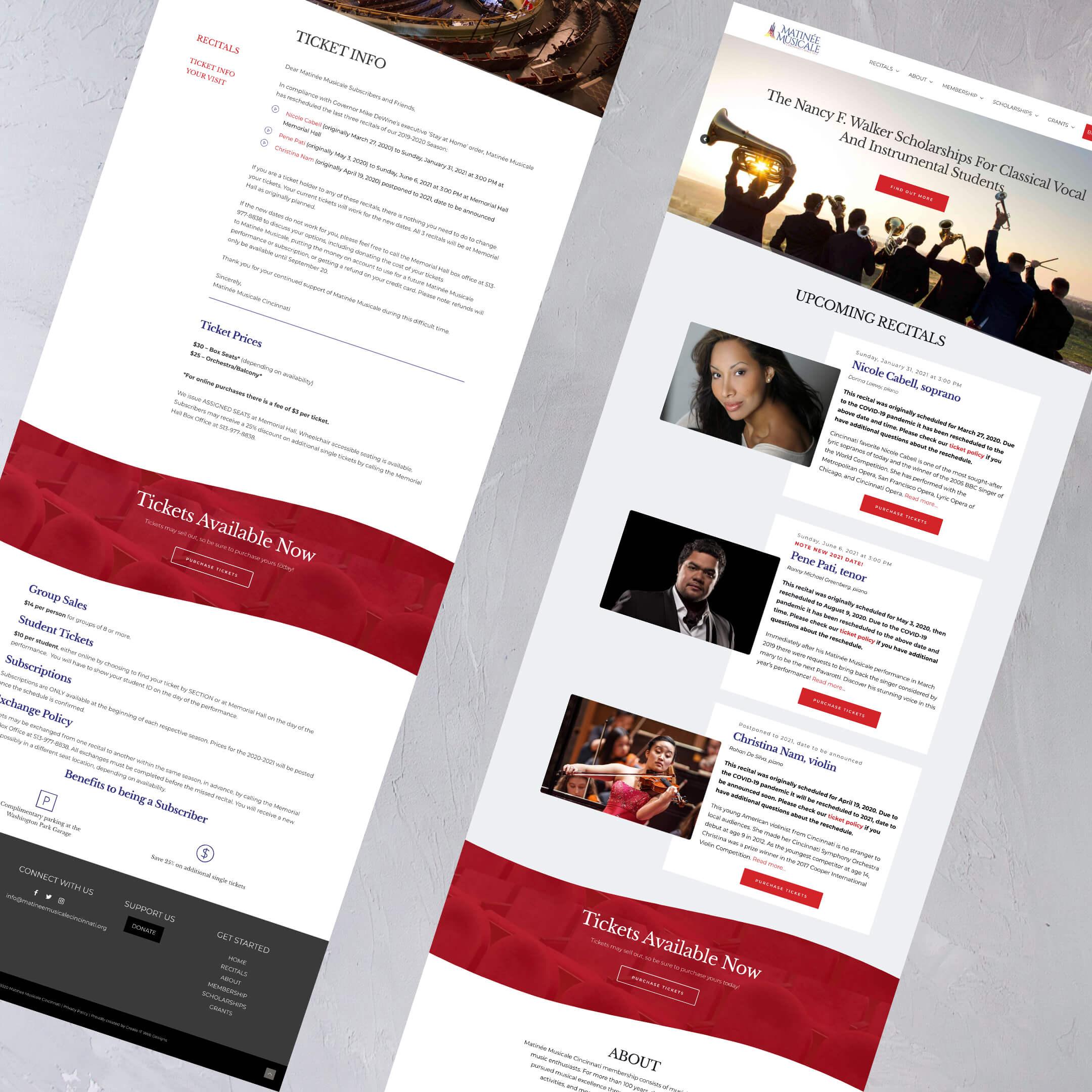 Matinee Musicale Cincinnati Homepage - a Non Profit website in Cincinnati, Ohio
