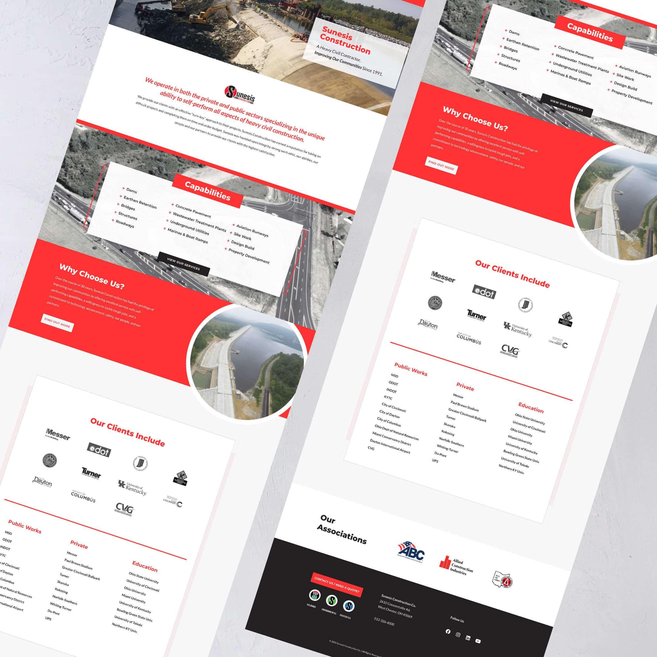 Sunesis Construction Website - Construction Website Example and Portfolio