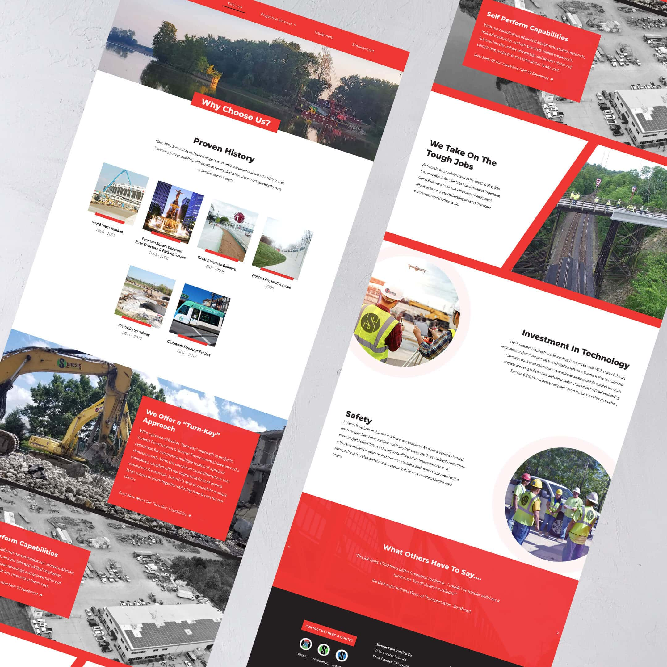 Sunesis Construction Website Why Us Page - Construction Website Example and Portfolio