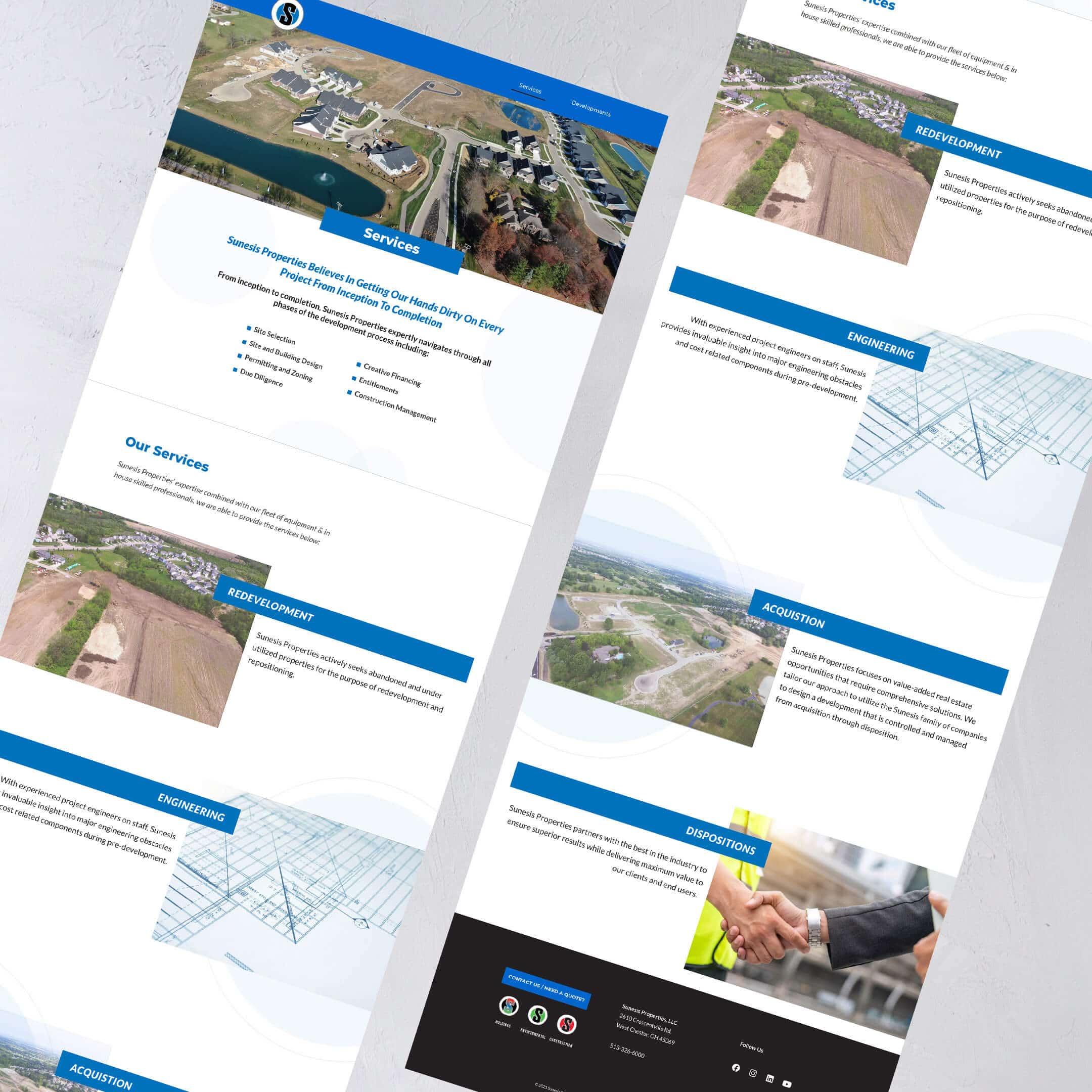 Sunesis Properties Service Page - Cincinnati and Dayton Construction Websites