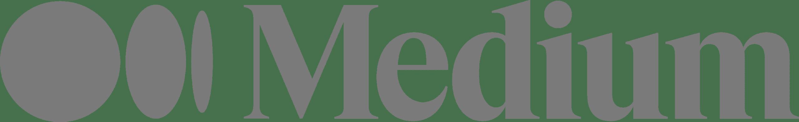 Medium Black and White Logo